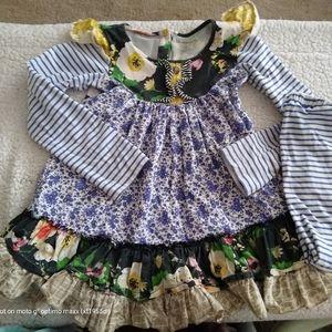 Girls mustard pie outfit